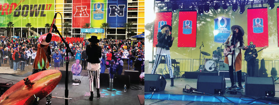 The Sisterhood Band - 2017 NFL Pro Bowl Game Day Fan Plaza Concert. Camping World Stadium, Orlando, FL. Jan. 29, 2017