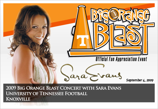 University of Tennessee Football - 2009 Big Orange Blast Concert with Sara Evans