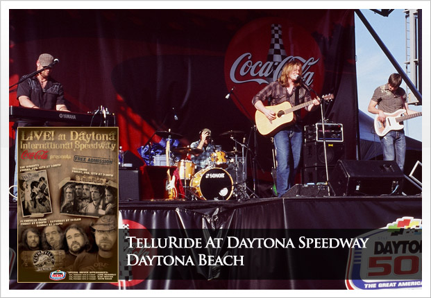 TelluRide singing on stage at Daytona International Speedway