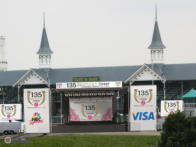 Churchill Downs Race Track The Kentucky Derby & Oaks Branded Pop-up: Mobile Stage