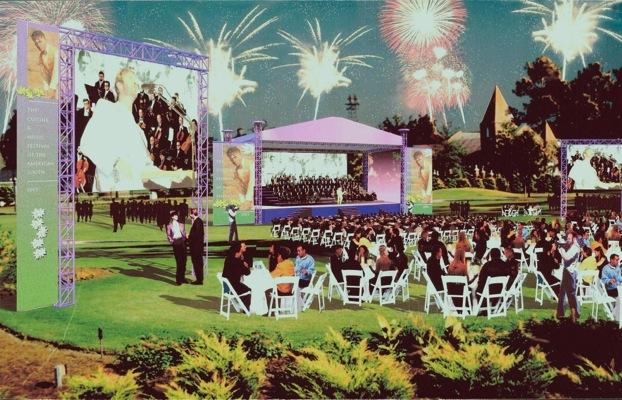Professional Golf Major Championships artists rendering