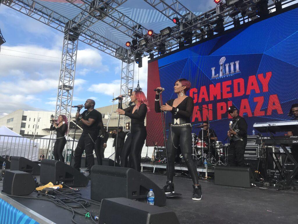 Simply Irresistible Band, Super Bowl GameDay Fan Plaza Mercedes Benz Stadium - Atlanta 2.3.19